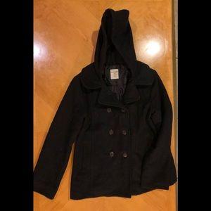 🦋 Black Coat with Hoodie🦋